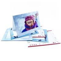 Świąteczne kartki na zdjęcia formatu 10x15 wraz z kopertami - 6 szt.