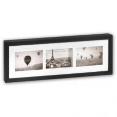 Fotoramka drewniana Pigalle Black 3x 10x15