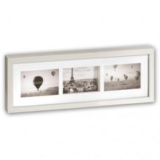Fotoramka drewniana Pigalle White 3x 10x15
