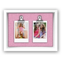 Ramka drewniana Funny Pink 2x 5,3x8,5